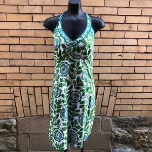 Boden green blue halter dress 8